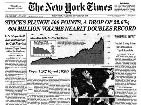 Black Monday 1987